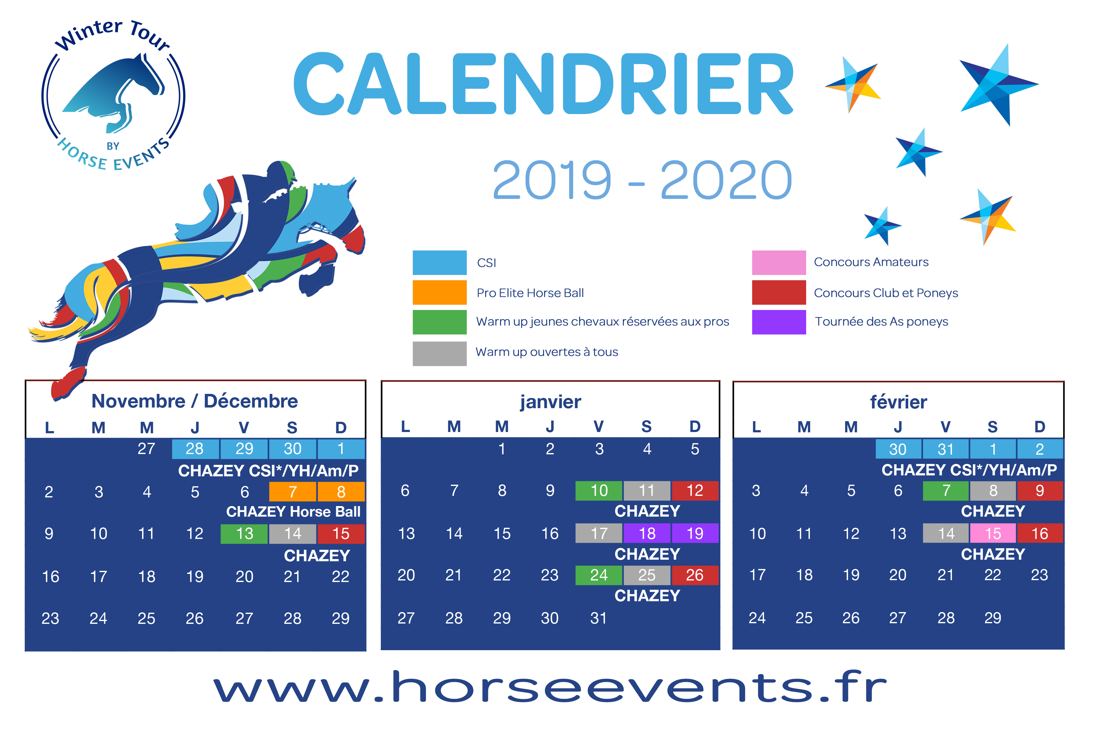 Calendrier Concours Cso 2020.Programme 2018 2019 Horse Events